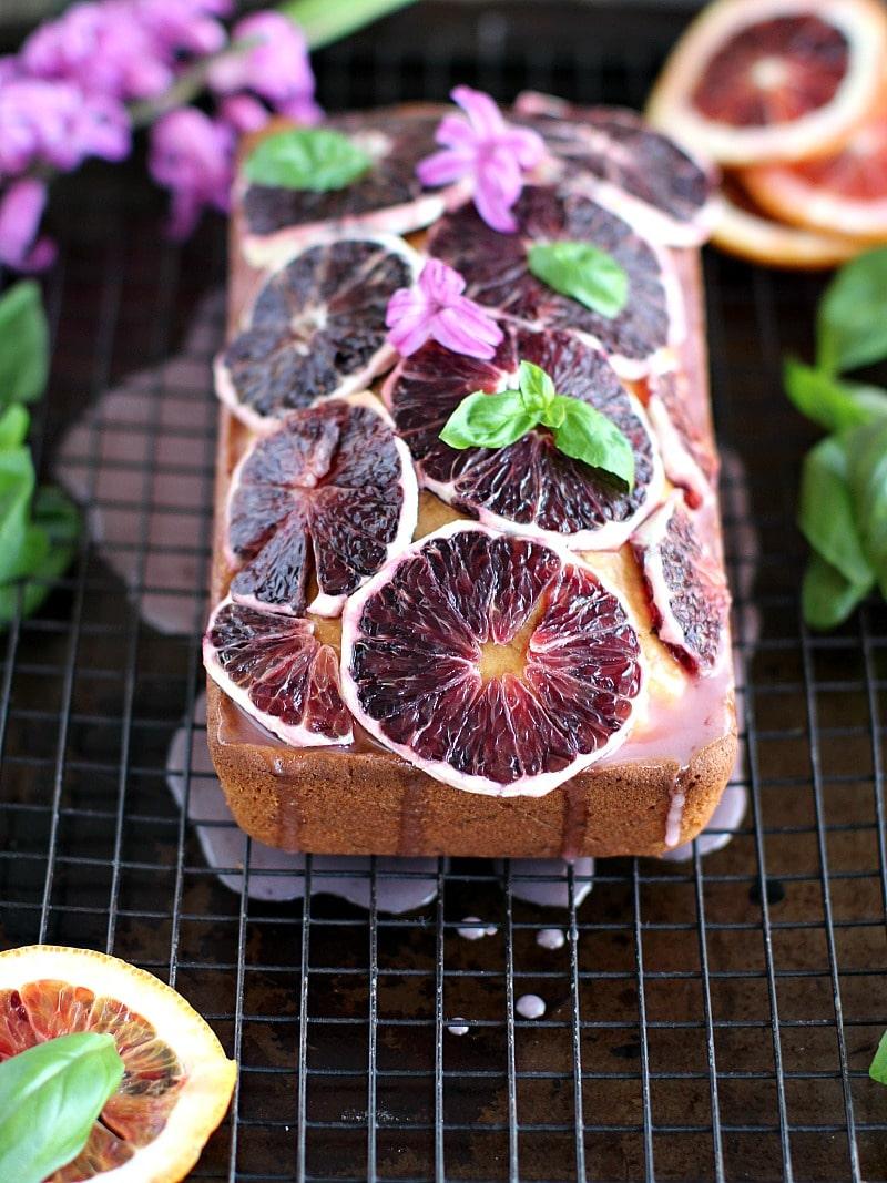 Basil Blood Orange Pound Cake 8002