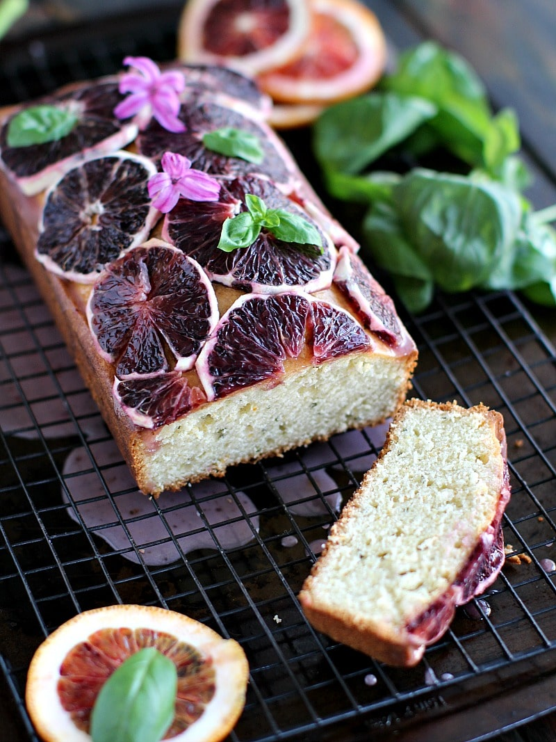 Basil Blood Orange Pound Cake 8004
