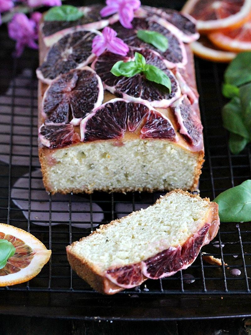 Basil Blood Orange Pound Cake 8007