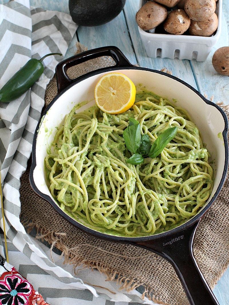 Vegan creamy pasta