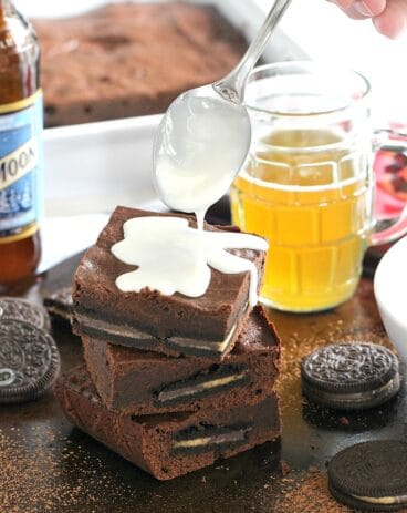 Reese's Oreo Chocolate Beer Bars