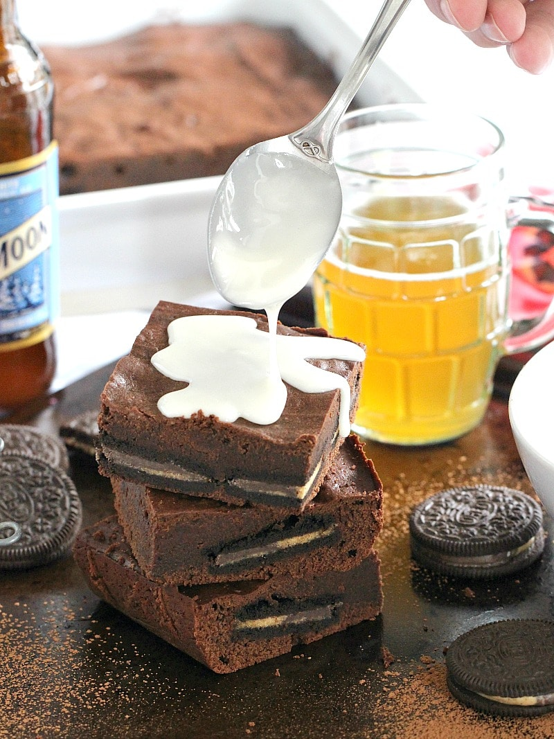 Reese's Oreo Chocolate Beer Bars