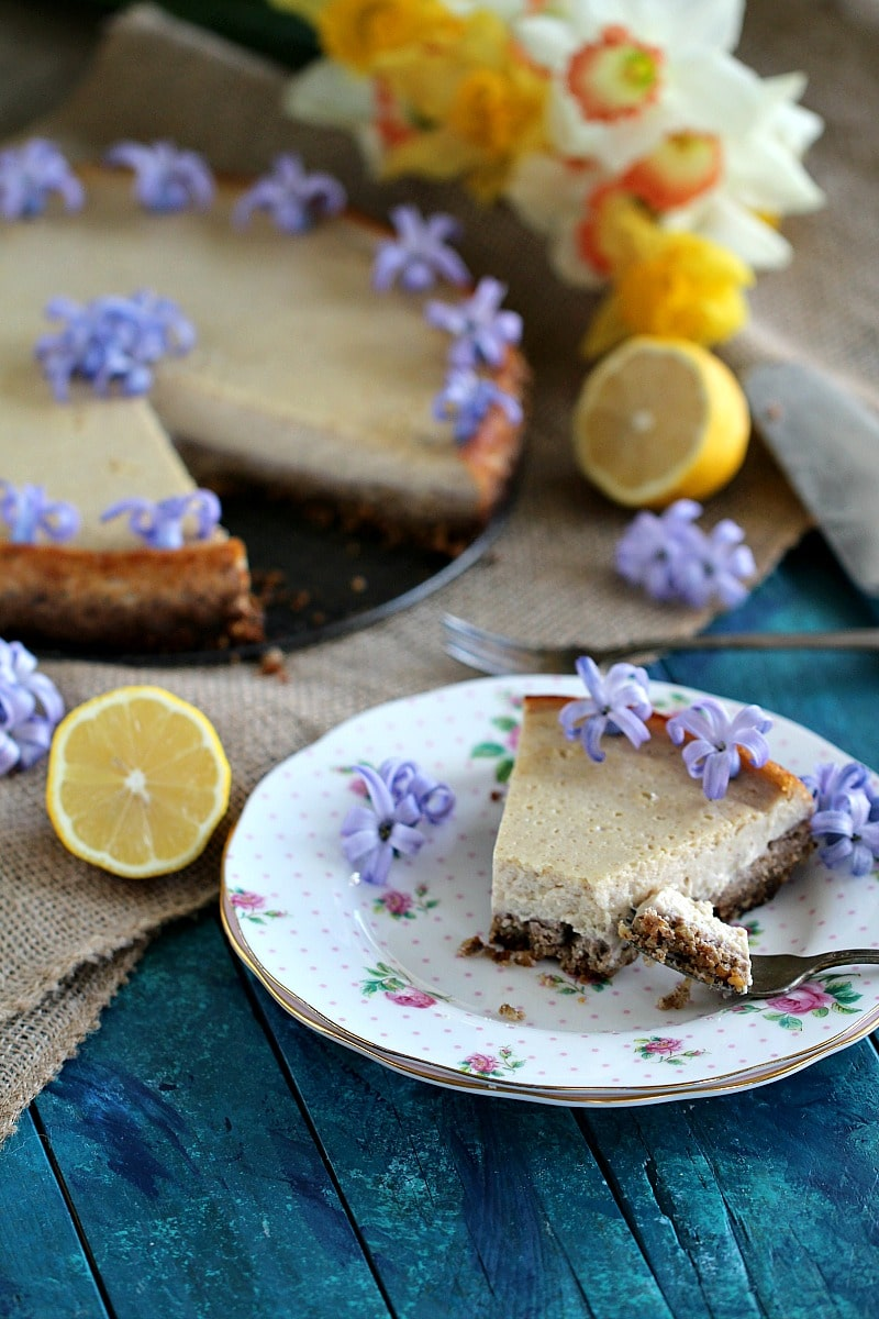 Easy Vegan Lemon Tofu Cheesecake