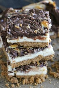 Chocolate Hazelnut Cheesecake Bars