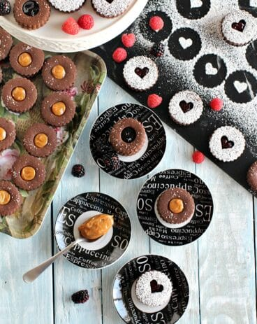 Chocolate Linzer Cookies