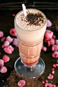 raspberry coffee smoothie 8004