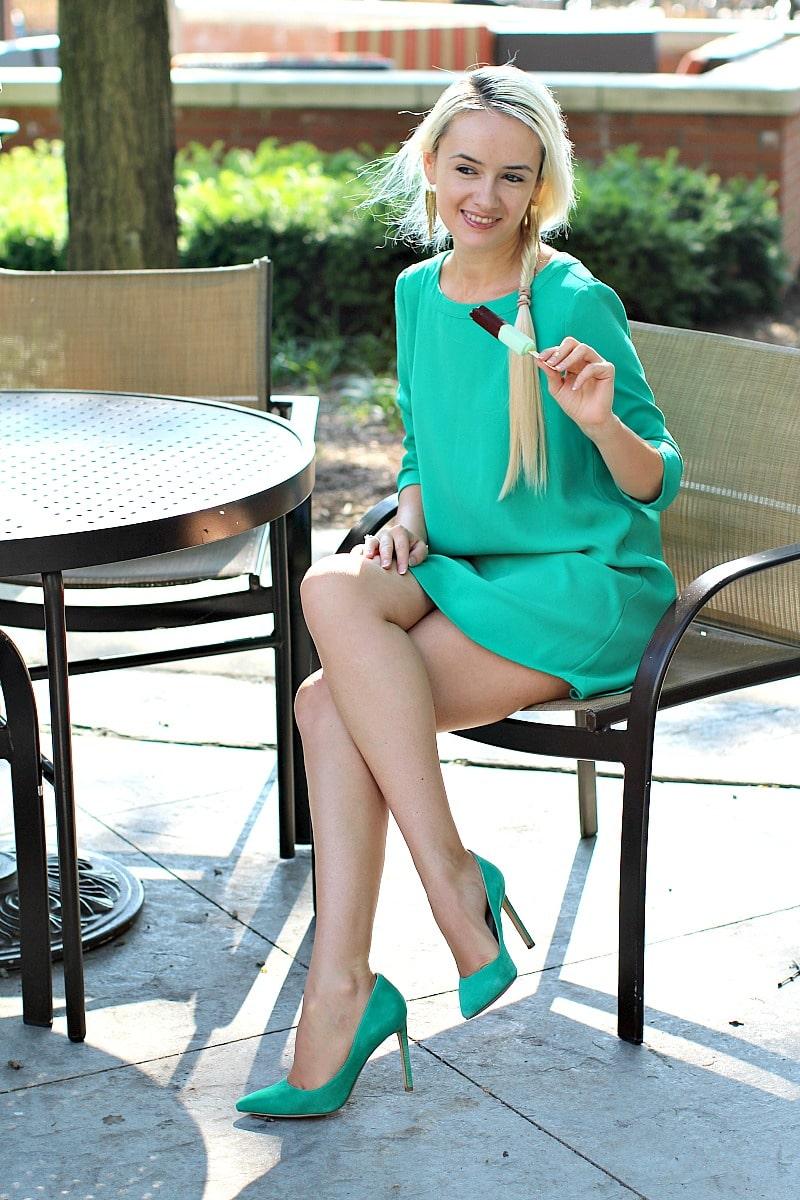 Crepe Mint Dress 8004