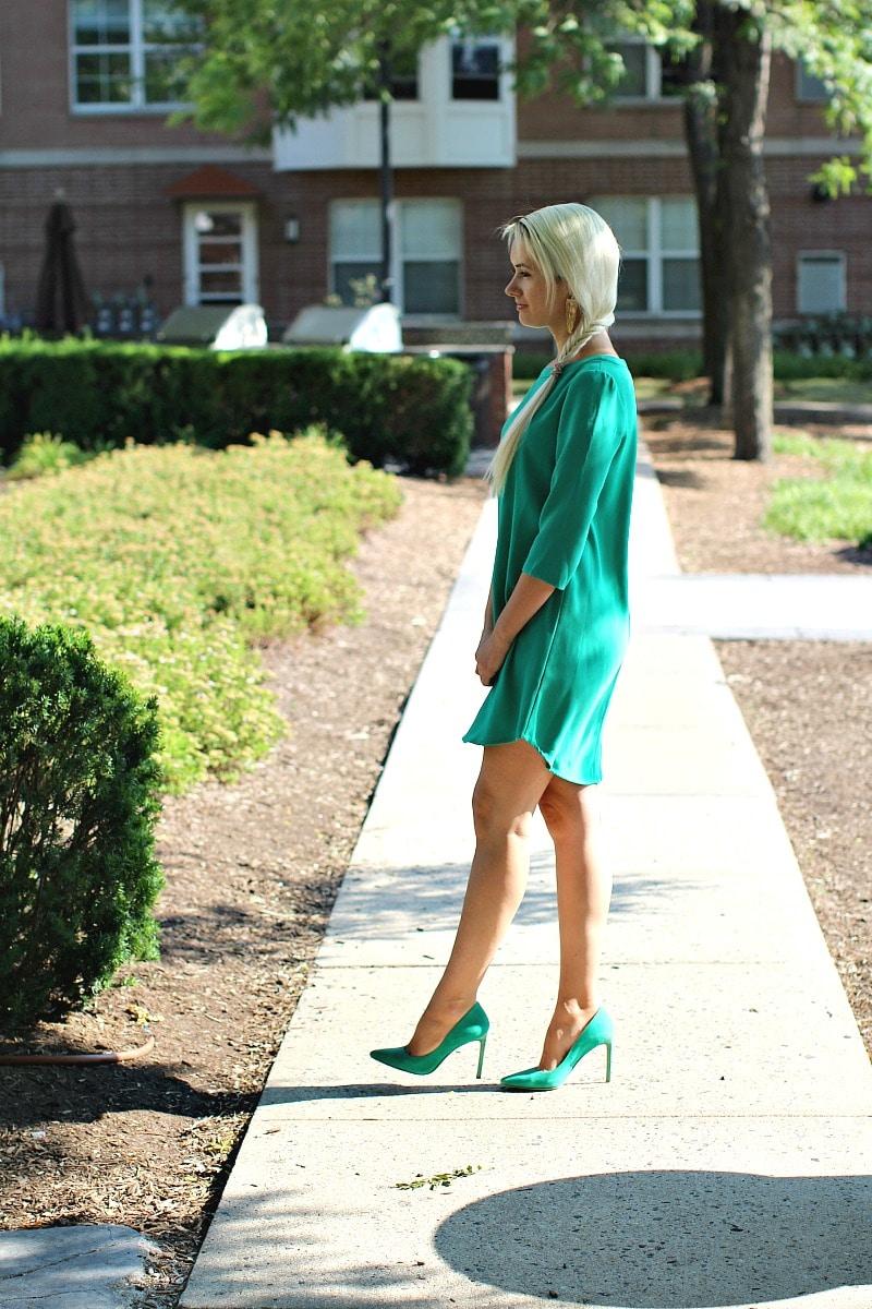 Crepe Mint Dress 8006