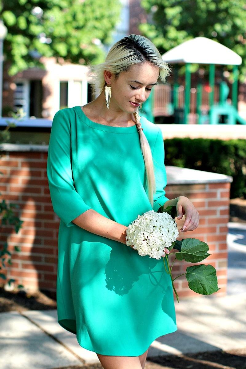 Crepe Mint Dress 8008