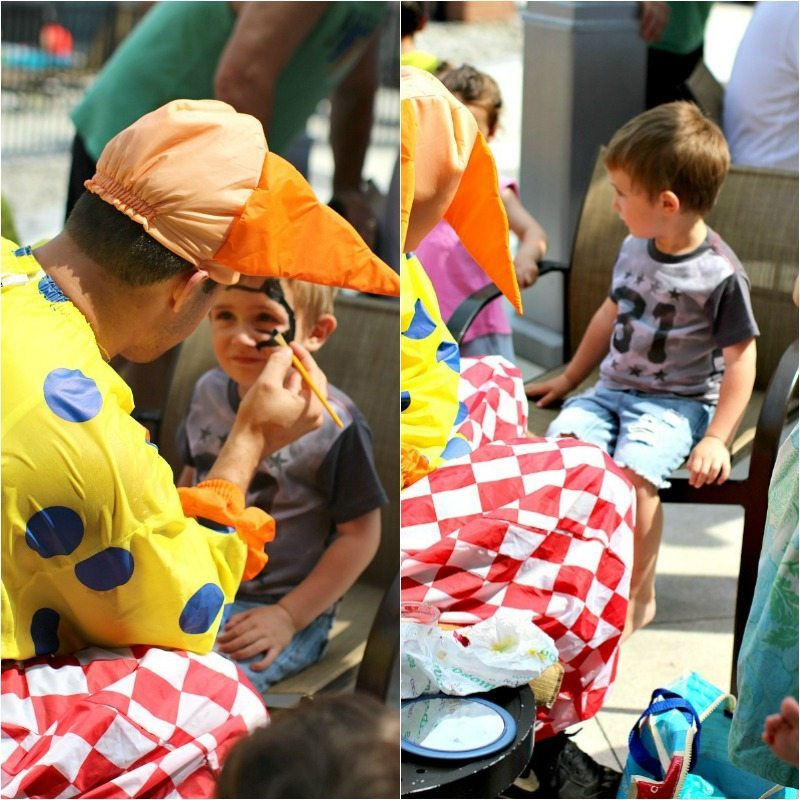 Face Painting Pool Party Collage1