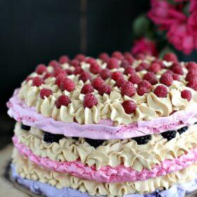 Ombre Meringue Cake