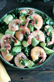 Shrimp Garlic Kale Salad 8009