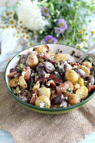 Red, White and Blue Bacon Feta Potato Salad 8001