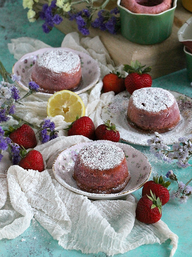 Best Strawberry Lava Cakes