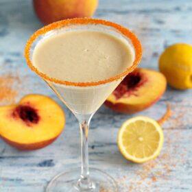 Peaches and Cream Martini