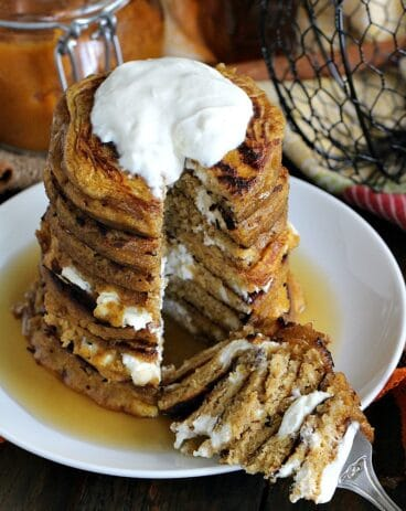 Pumpkin Cheesecake Pancakes