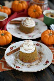 Dulce de Leche Stuffed Pumpkin Lava Cakes