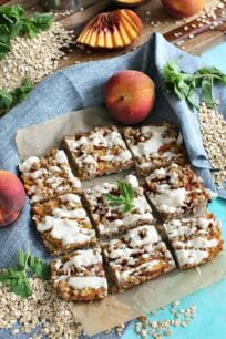 Gluten Free Peach Cobbler Bars 8006