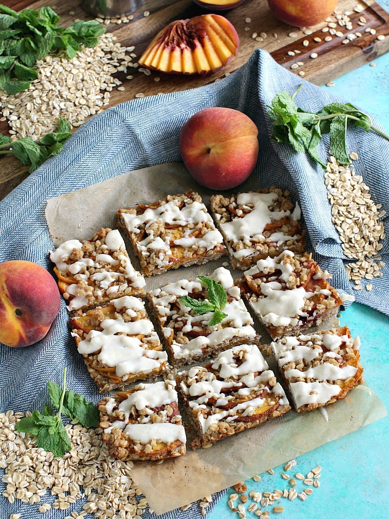 Gluten Free Peach Cobbler Bars