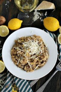 Lemon White Wine Brown Rice Risotto