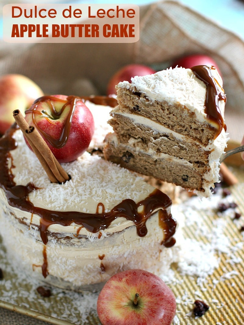 Apple Butter Cake with Dulce de Leche Buttercream