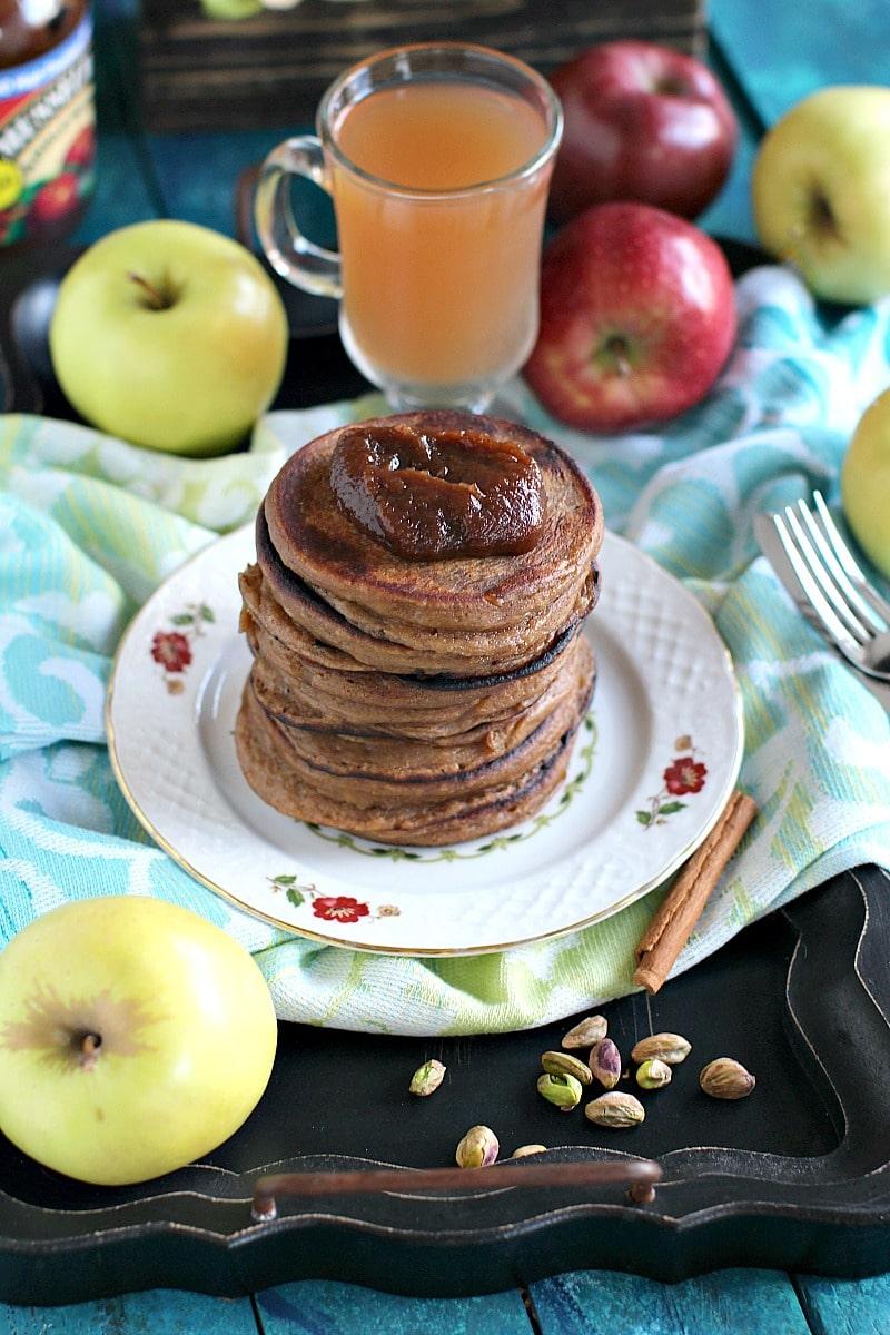 Pistachio Caramel Apple Butter Pancakes 1