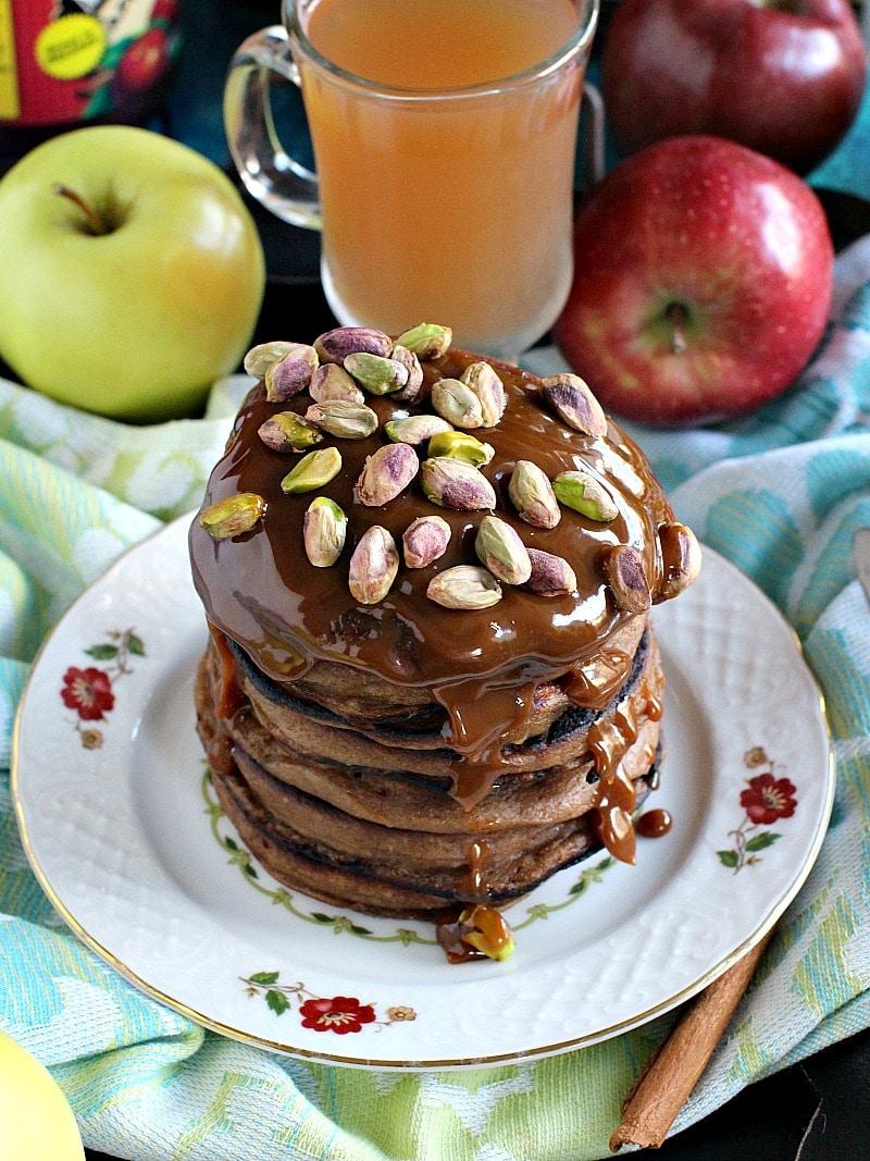 Pistachio Caramel Apple Butter Pancakes 5