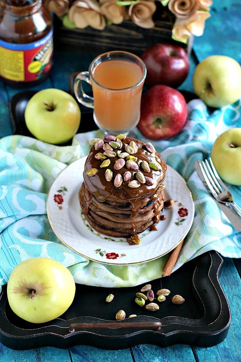 Pistachio Caramel Apple Butter Pancakes 6