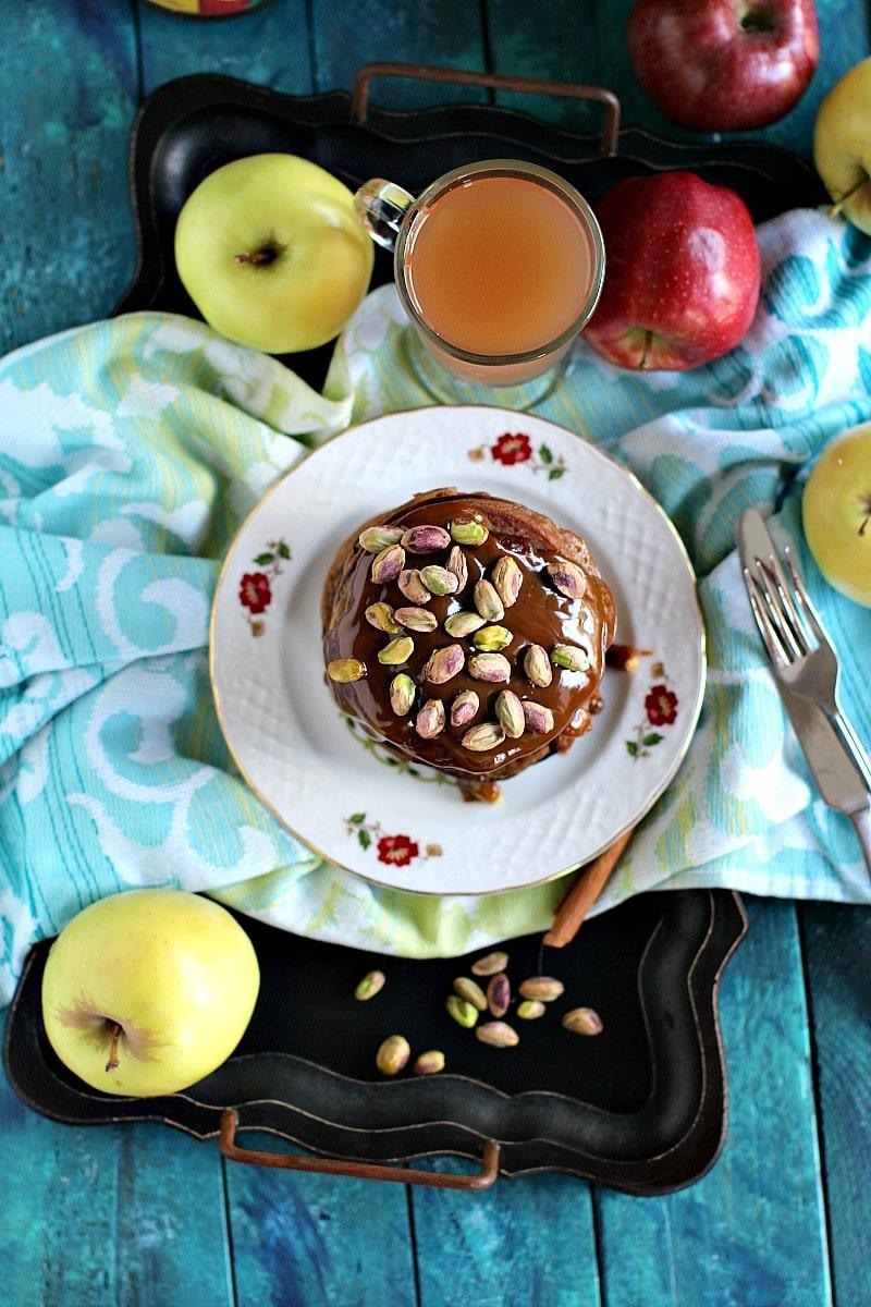 Pistachio Caramel Apple Butter Pancakes 7