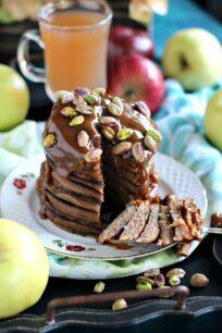 Pistachio Caramel Apple Butter Pancakes 8