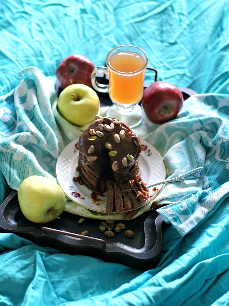 Pistachio Caramel Apple Butter Pancakes 12