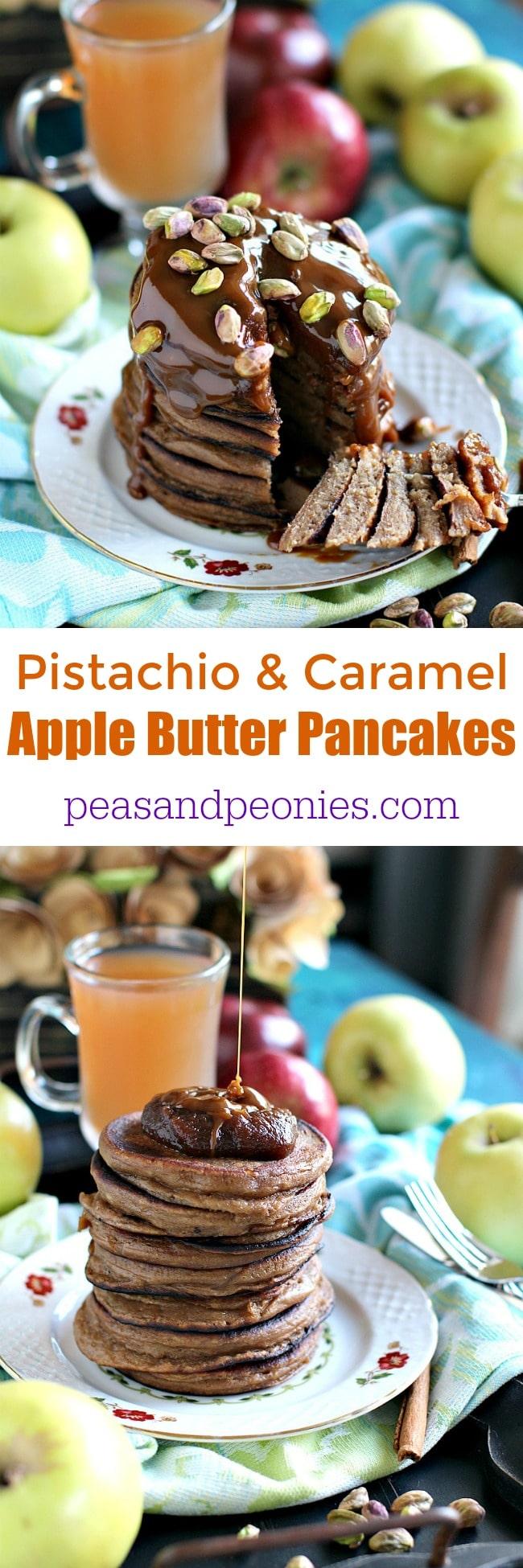 Pistachio Caramel Apple Butter Pancakes 210