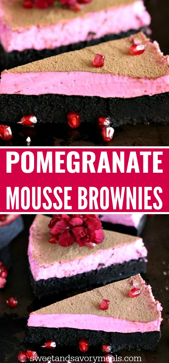 Pomegranate Mousse Brownies