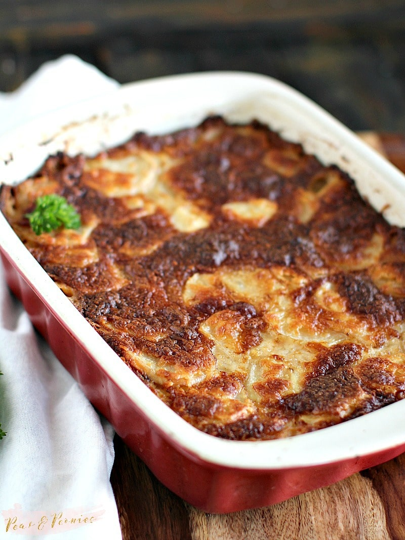 Italian Béchamel Sauce Potato Gratin combines French and Italian flavors in the most delicious, easy to make and comforting potato dish.