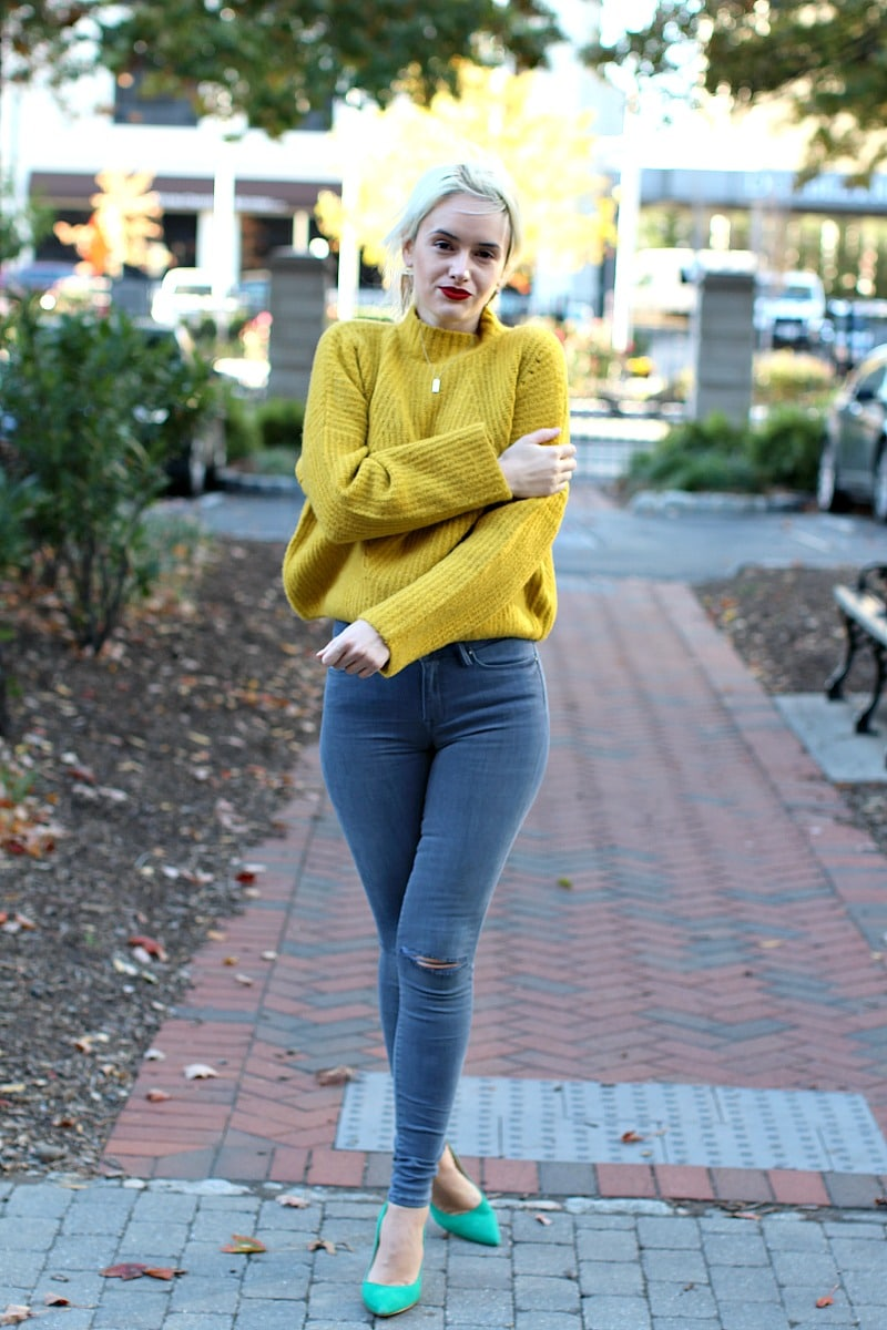 Comfy Yellow Sweater 5