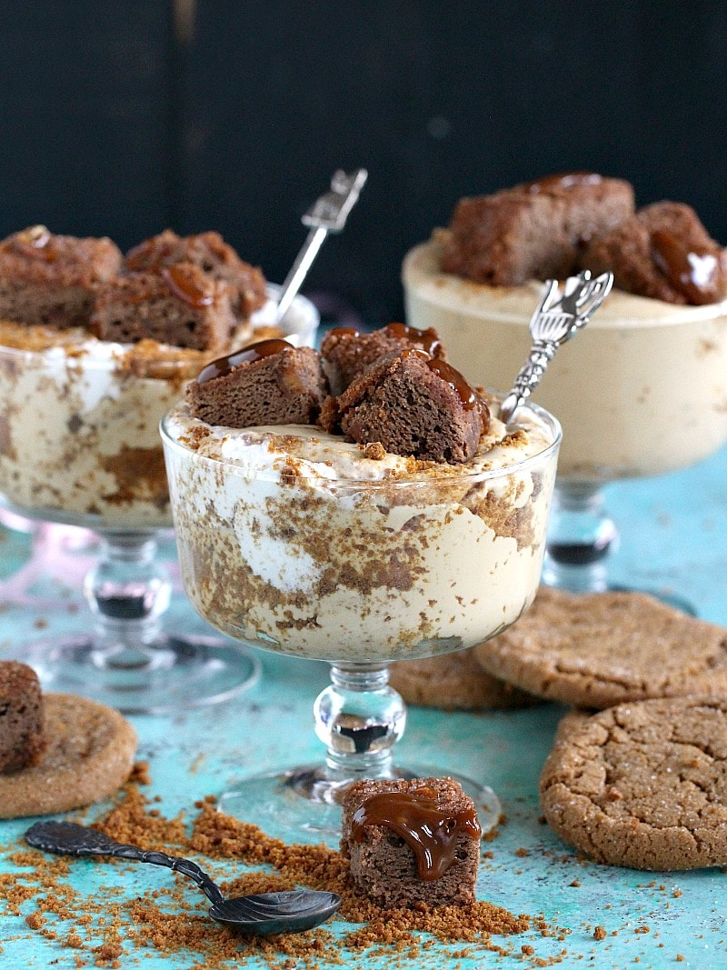 Flavorful and very easy to make, No Bake Gingerbread Cheesecake has layers of Molasses Clove Cookie crumbs and is topped with Gingerbread bites.