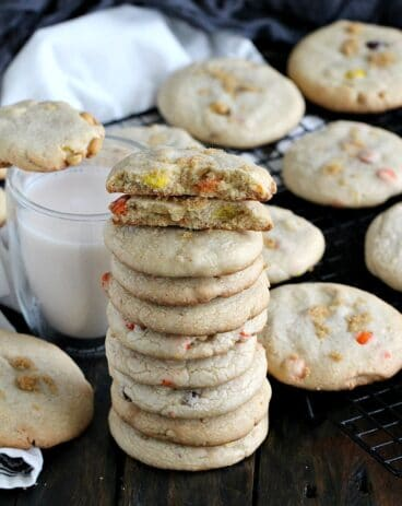 Brown Butter Cookies with Reese's Pieces