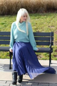sweater with chiffon skirt combo 12
