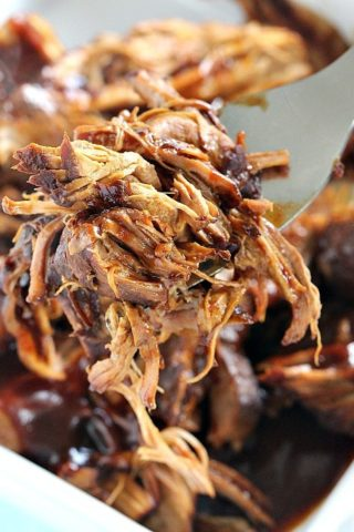 Juicy and flavorful this Pressure Cooker Pulled Pork is made quickly and easy in the Instant Pot. Flavored with beer and sweet barbecue sauce.