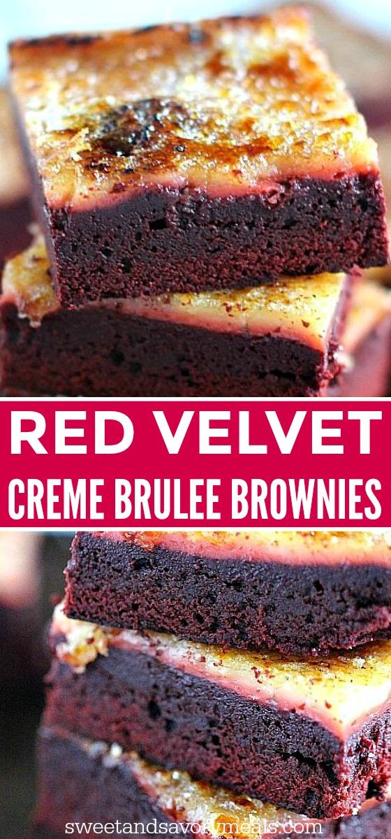 Red Velvet CremeBrûléeBrownies