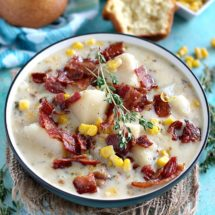 Slow Cooker Corn Chowder with Bacon