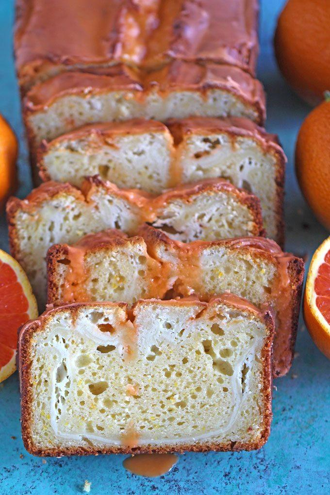 Cheesecake Swirl Orange Pound Cake Peas And Peonies