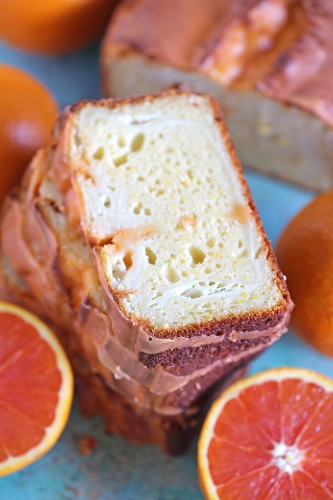 Orange Pound Cake with Cheesecake Swirl