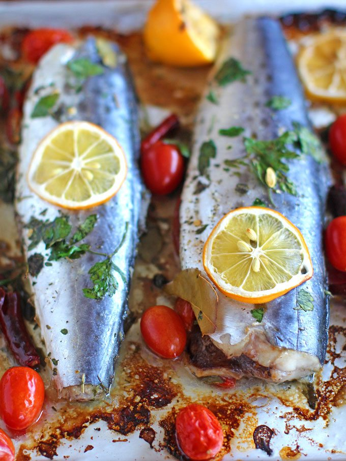 Oven Roasted Spanish Mackerel