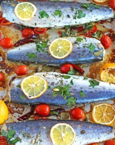 Healthy Oven Roasted Spanish Mackerel