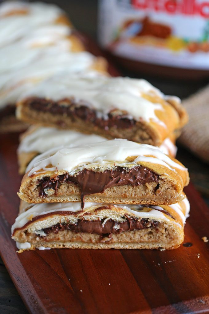 Peanut Butter Nutella Danish