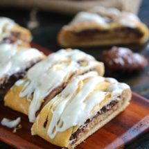 This Peanut Butter Nutella Danish Recipe is super easy to make, a soft danish filled with peanut butter cheesecake and lots of Nutella.