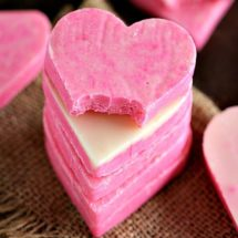 Pink White Chocolate Fudge