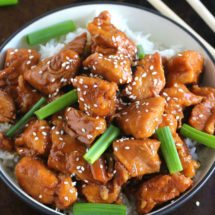 Instant Pot Mongolian Chicken takes just five minutes to throw into the pressure cooker and only 25 minutes to cook a flavorful, tender and juicy chicken!