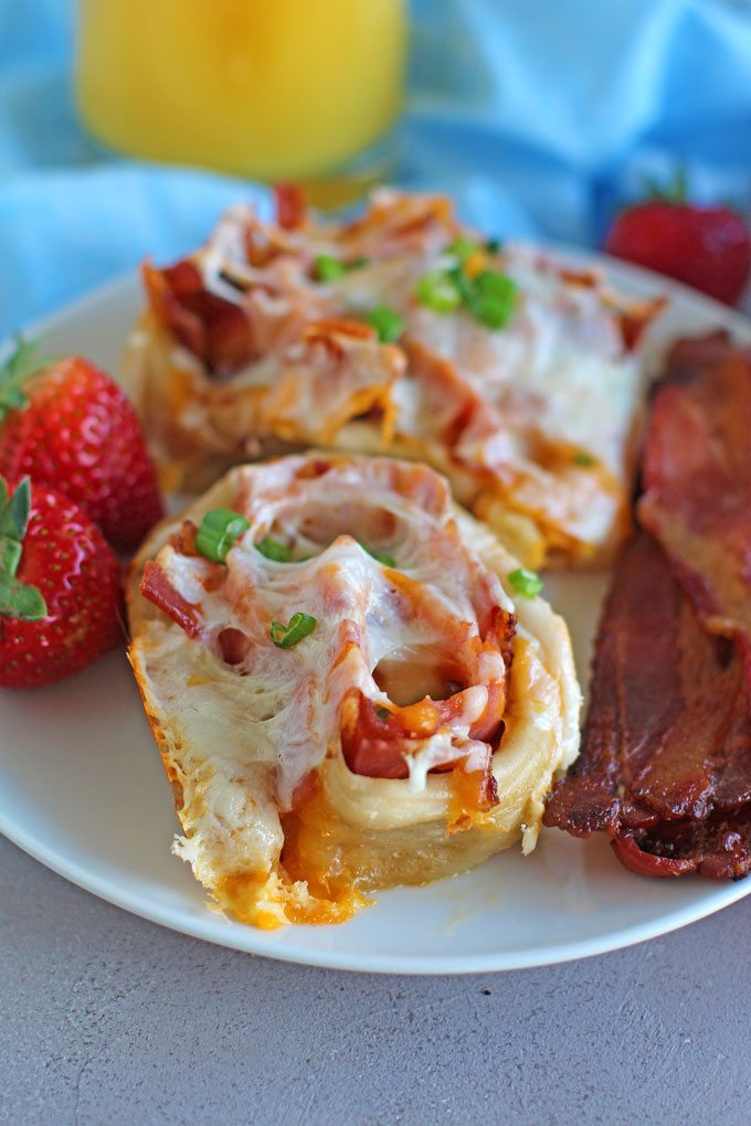 Bacon Ham Cheese Rolls
